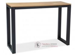 UMBERTO K, konzolový stolek, černá / MDF dub