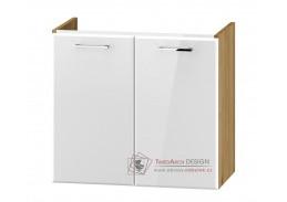 DUNDALK, skříňka pod umyvadlo 2-dveřová DUM VEA 64, dub artisan / bílý lesk