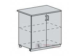 ANASTASIA, dolní skříňka 2-dveřová 80D, bílá / bříza
