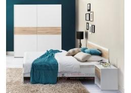 WENECJA, ložnicová sestava nábytku, bílá / dub sonoma