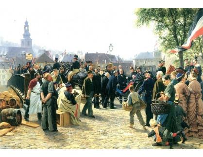 VN-19 Anton von Werner - Příchod Jeho Veličenstva v Saarbrückenu