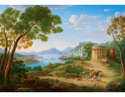 Slavné obrazy IX DDSO-683 Henrik Frans van Lint - Klasická krajina s postavami
