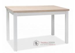 ADAM, jídelní stůl 100x60cm, dub sonoma / bílá