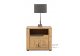 YORK Y17, noční stolek - pravý, dub granson / grafit