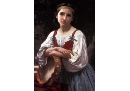 R15-10 Adolph William Bouguereau - Cikánka s baskickým bubínkem