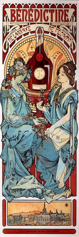 Obraz VAM-110 Alfons Mucha - Benedictine