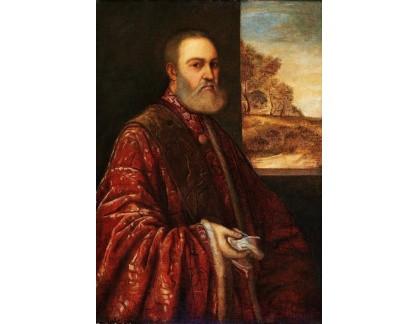 Slavné obrazy I-DDSO-360 Tizian - Portrét prokurátora Alessandro Contarini