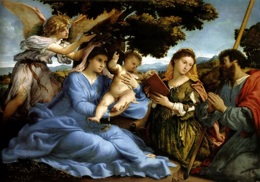 VLL 03 Lorenzo Lotto - Marie a svatá Kateřina z Alexandrie