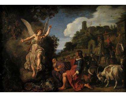Slavné obrazy XIV-35 Pieter Lastman - Anděl Raphael a svatý Tobiáš