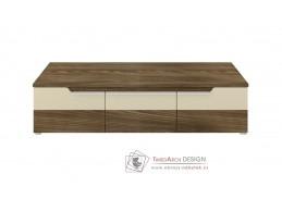 ALTO, televizní stolek, platan tmavý / béžový lesk