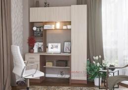 MAURY 7, pracovní nábytková sestava, jasan šimo tmavý / jasan šimo světlý