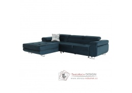 AMARETA, sedací souprava - levá, látka modrá