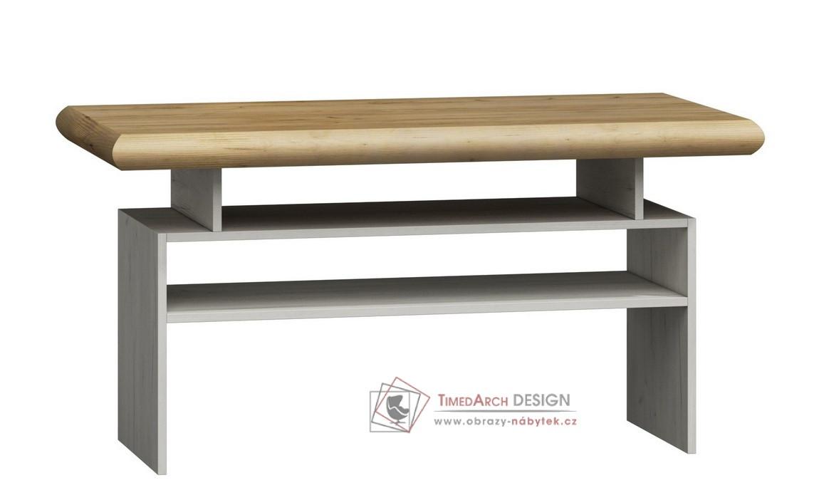 Konferenční stolek KORA K13 bílá / divoký dub