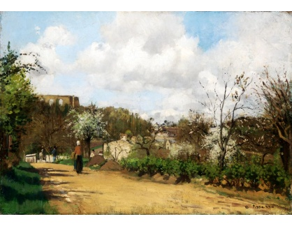 VCP-455 Camille Pissarro - Pohled na Louveciennes