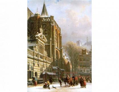 VH820 Cornelis Springer - Kostel svatého Michaela ve Zwolle