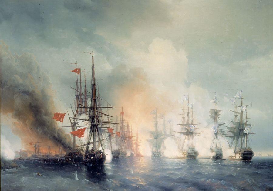VR-349 Ivan Konstantinovič Aivazovsky - Bitva o Sinop