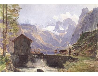 VALT 77 Rudolf von Alt - Dachstein z Dolního Gosau