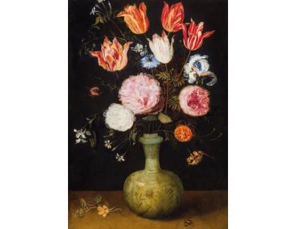 Slavné obrazy I-DDSO-205 Jan Brueghel - Zátiší s květinami ve váze