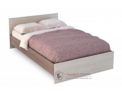 BASIA, postel BASIA 120x200cm KP-556, jasan šimo tmavý / jasan šimo světlý