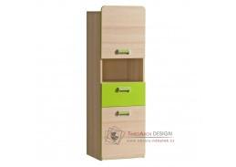 EGO L04, skříňka, jasan / zelená