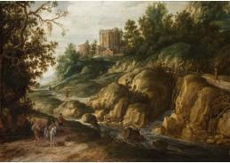 D-5853 Esaias van de Velde - Krajina s antickým chrámem