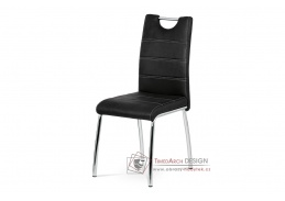AC-9930 BK3, jídelní židle, chrom / látka černá