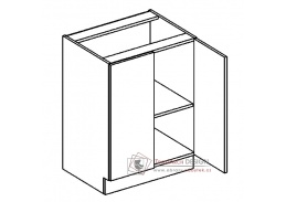 Dolní skříňka dvojdvéřová D60 ANGEL bílá / bílý lesk