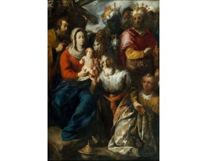 Slavné obrazy XVII-103 Francisco Herrera - Zjevení Páně