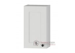 STRADONE, horní skříňka 1-dveřová W30 P/L, bílá