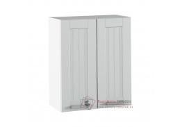 JULIA 06, horní skříňka 2-dveřová, bílá / světle šedá