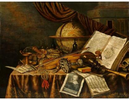KO III-298 Neznámý autor - Zátiší s knihou a houslemi