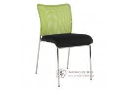ALTAN, konferenční židle, chrom / síťovina černá + zelená