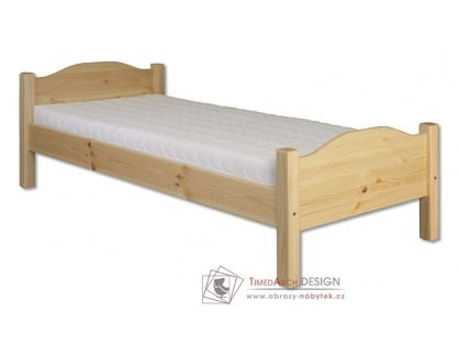 KL-128, postel 80x200cm, borovicový masiv