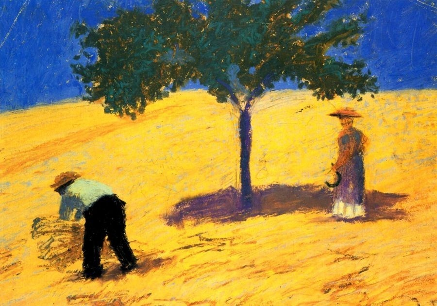 VAM2 August Macke - Strom v kukuřičném poli