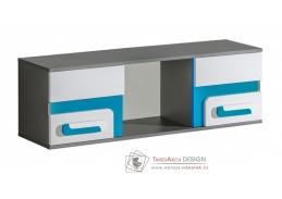 APETTITA 10, závěsná skříňka, antracit / bílá / tyrkysová