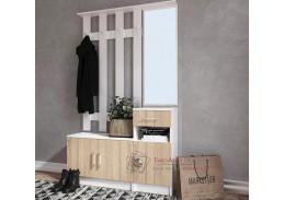 MÁŠENKA A, předsíňová stěna, bílá / dub sonoma