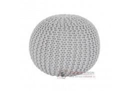 Pletený taburet 50x50x35cm GOBI typ 2 smetanová bavlna
