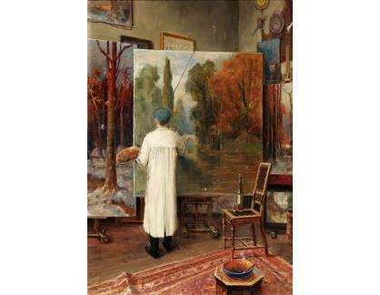 Slavné obrazy I-DDSO-246 Julius Klever - V ateliéru