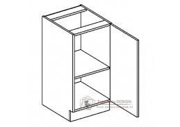 Dolní skříňka jednodvéřová D40P PREMIUM hruška - pravá