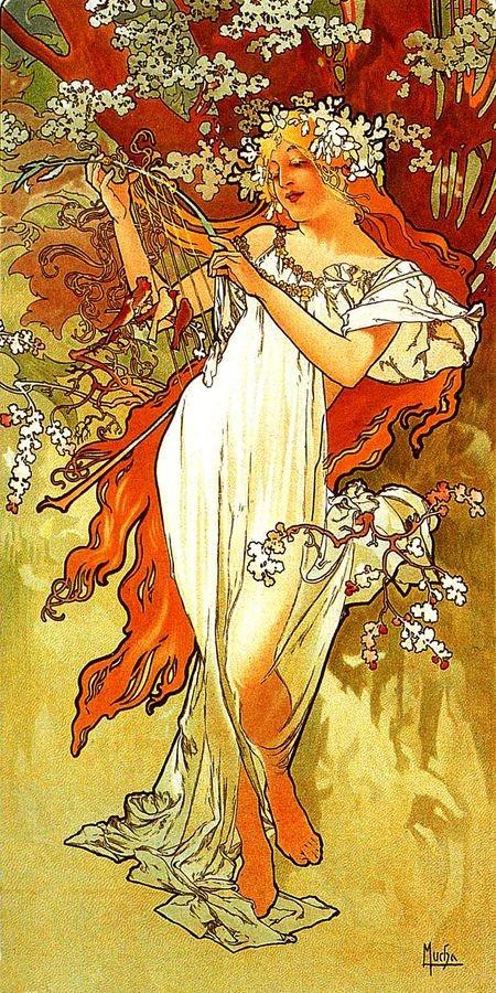 Obraz VAM-105 Alfons Mucha - Spring
