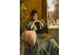 XV-97 Alfred Stevens - Zamyšlená žena u okna