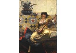 Slavné obrazy XVII-51 Ferdinand Max Bredt - Serenáda v harému