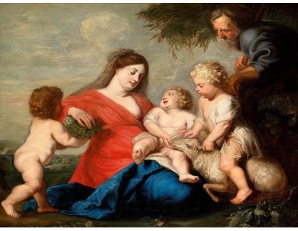 KO III-334 Peter Paul Rubens - Svatá rodina s Janem Křtitelem