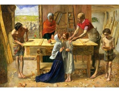 Krásné obrazy IV-202 John Everett Millais - Kristus v domě svých rodičů