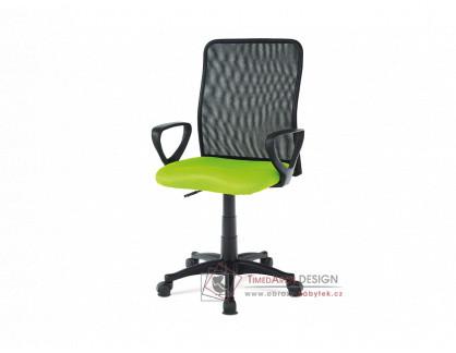KA-B047 GRN, kancelářská židle, látka mesh černá + zelená