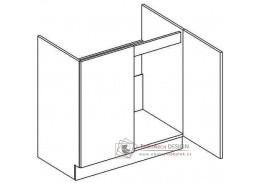 DARK BIS, dolní skříňka 2-dvéřová pod dřez D80ZL, bílá / wenge