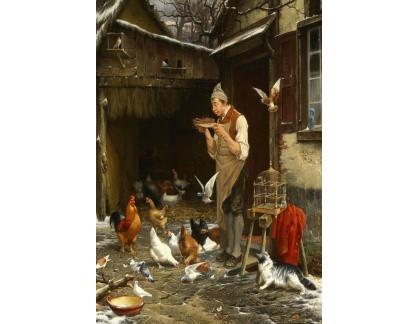 Slavné obrazy I-DDSO-209 Jan David Col - Milovník holubů