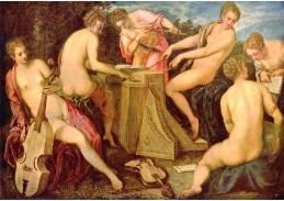 Slavné obrazy V-112 Jacopo Tintoretto - Koncertující ženy