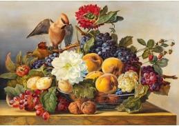D-9375 Franz Xaver Gruber - Zátiší s miskou ovoce a ořechů