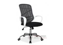 DEXTER, kancelářské křeslo, bílá / látka mesh černá